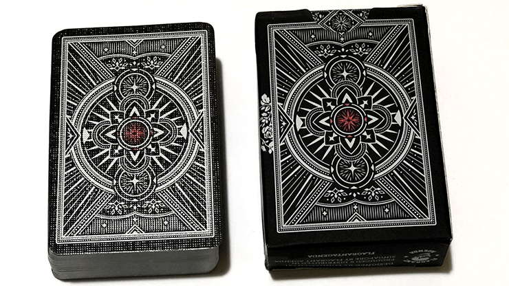 card games Deluxe deck for card collectors Agenda black playing cards magic
